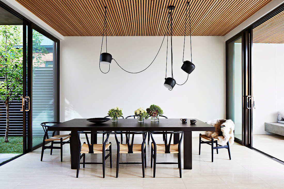Dark Dining Table With Classic Chairs Buy Image 12533086 Living4media