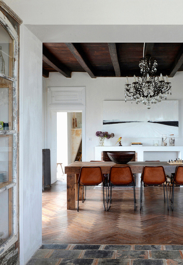 Rustic dining room in Mediterranean country house