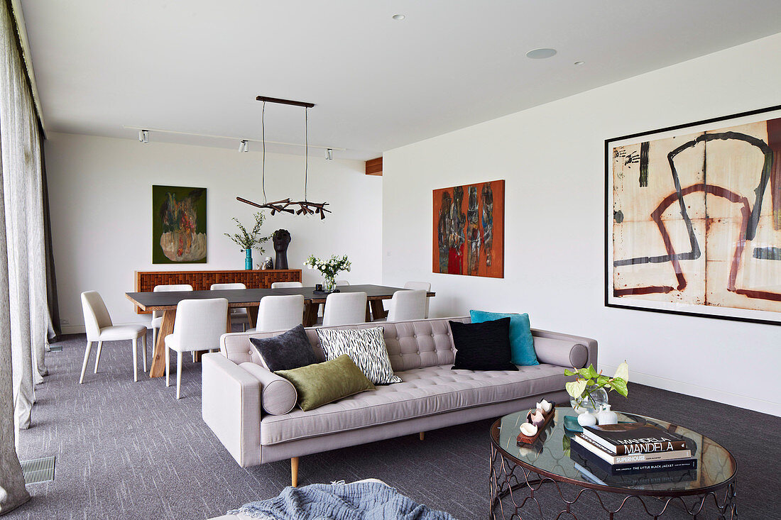 Modern Living Room With Dining Table Buy Image 12572230 Living4media
