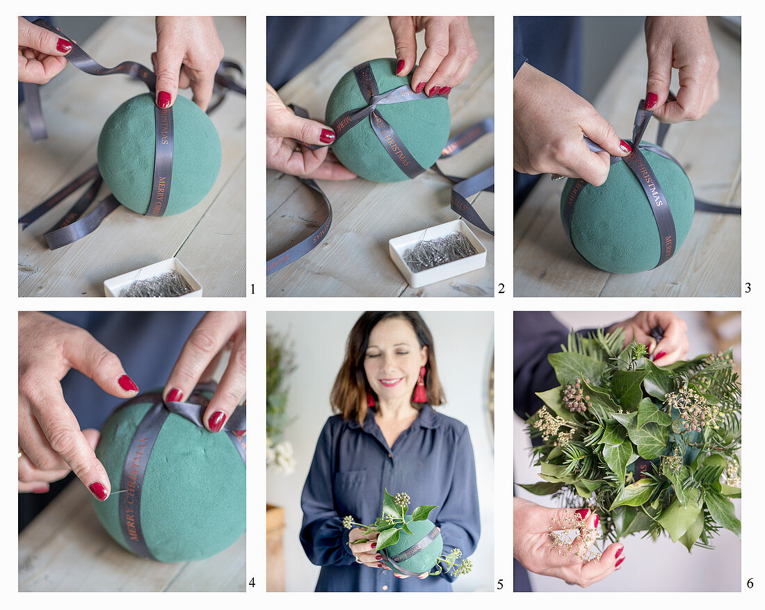 Instructions for making a Christmas wreath