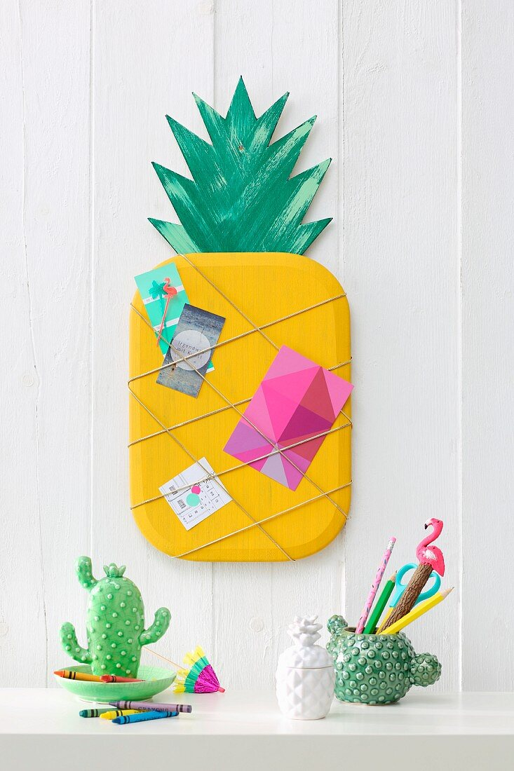 DIY-Klemmboard in Ananasform