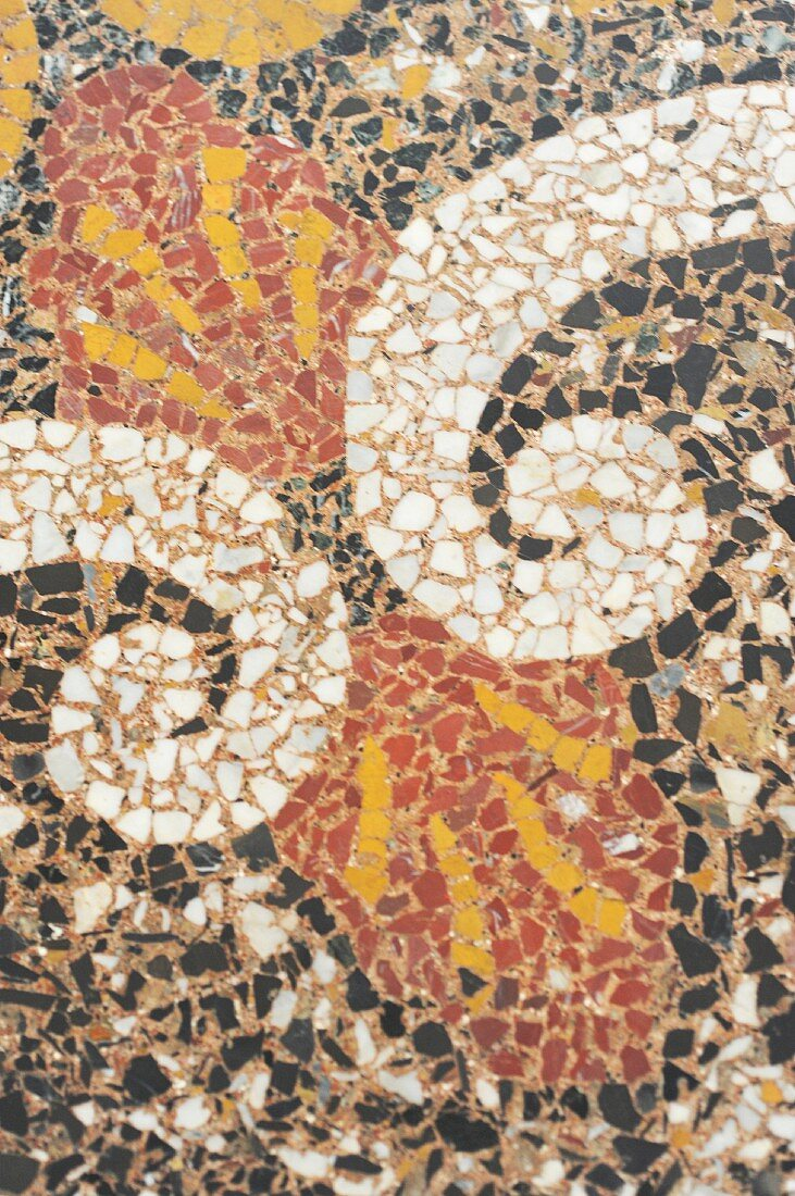Terrazzo floor with artistic pattern