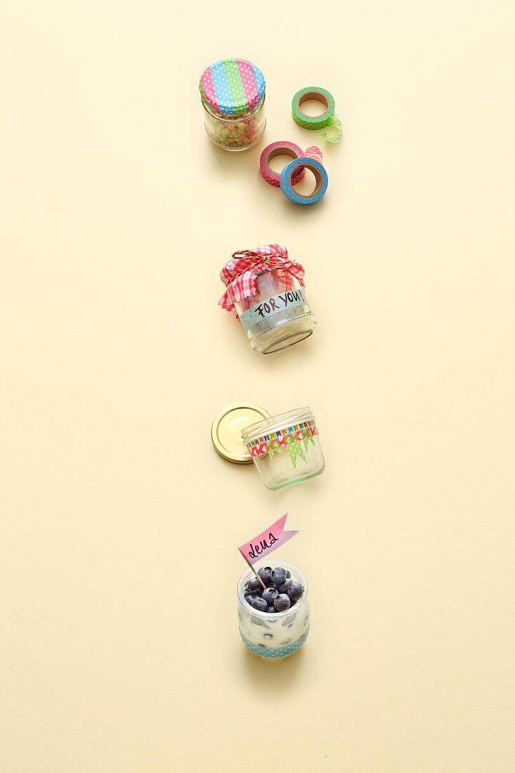 A DIY gift in a glass jar