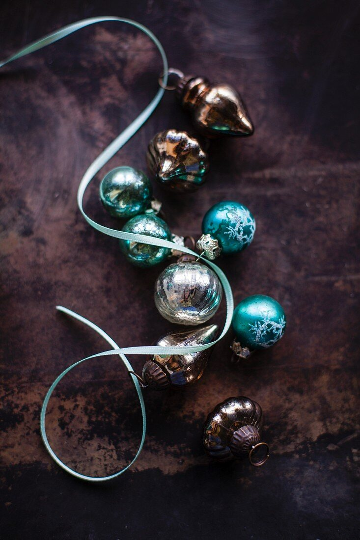Turquoise And Silver Christmas Tree Buy Image 12367276 Living4media