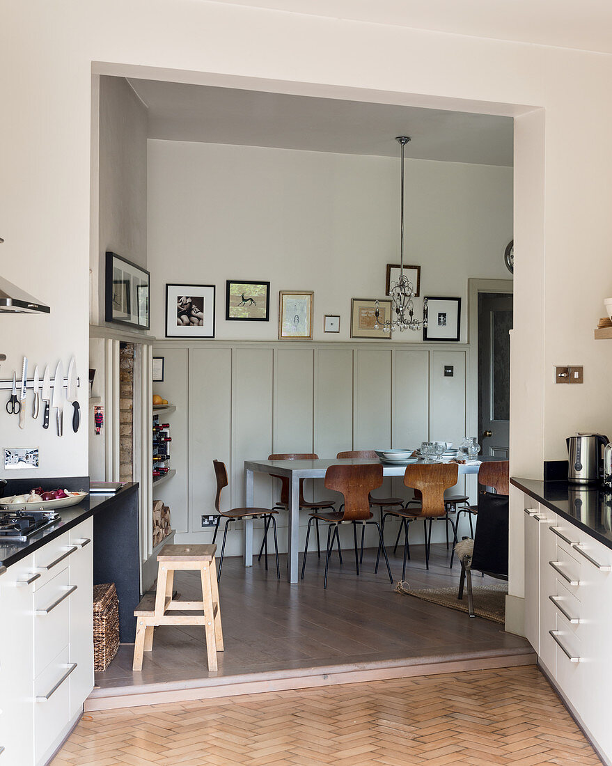 View From L Shaped Kitchen Extension Buy Image 12598038 Living4media