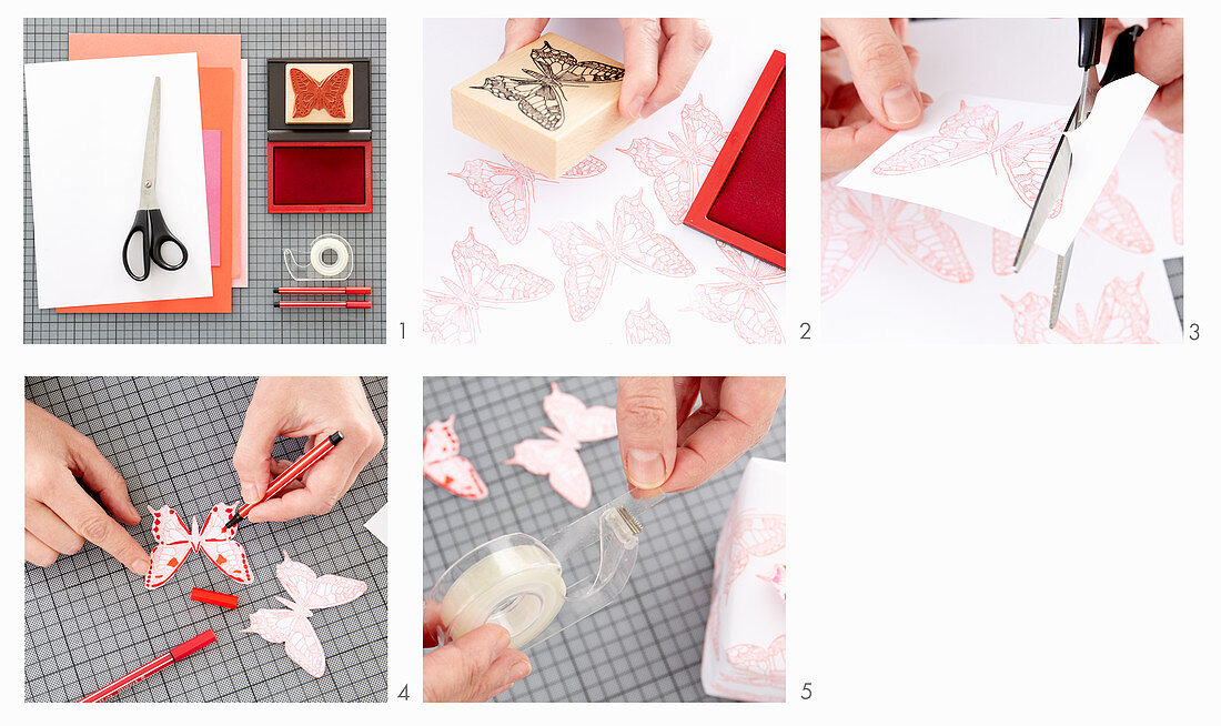 Instructions for making butterfly motifs