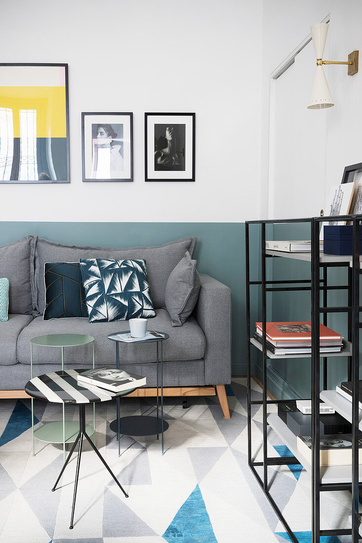 Modern Living Room In Shades Of Blue Buy Image 12621978 Living4media