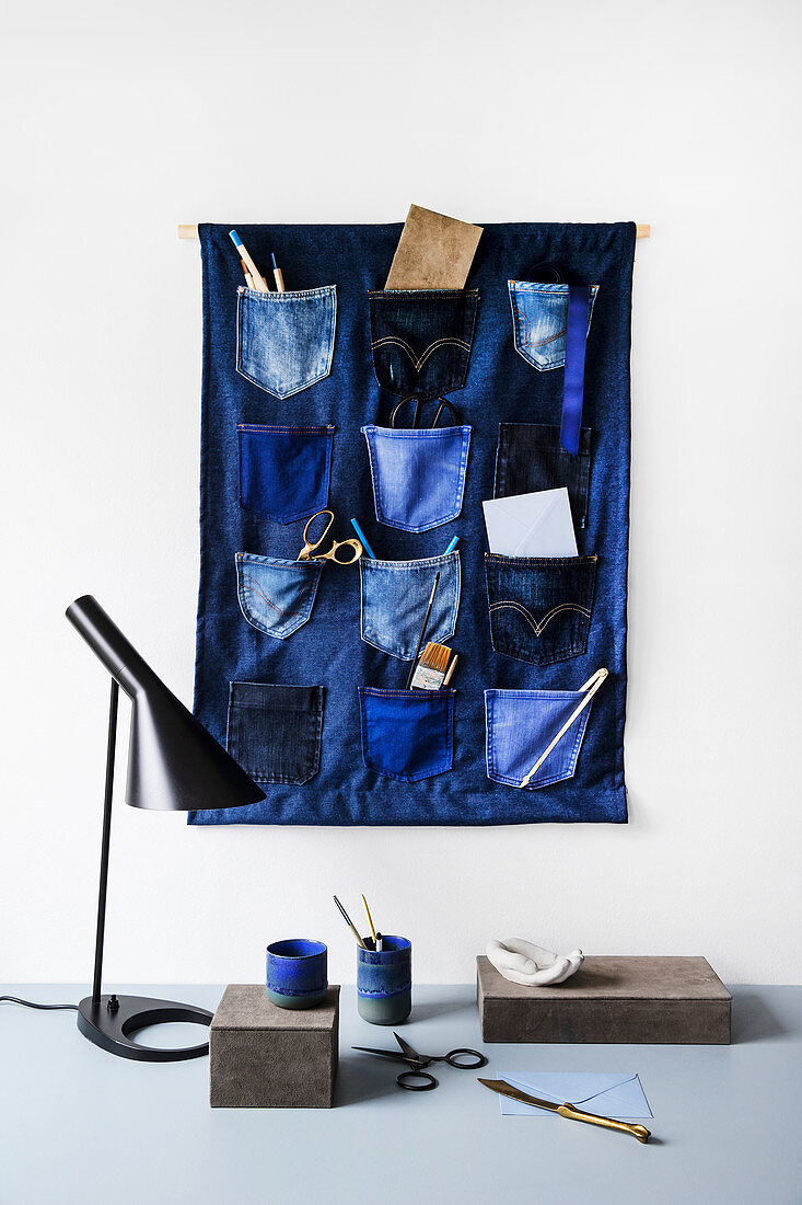 DIY denim organiser