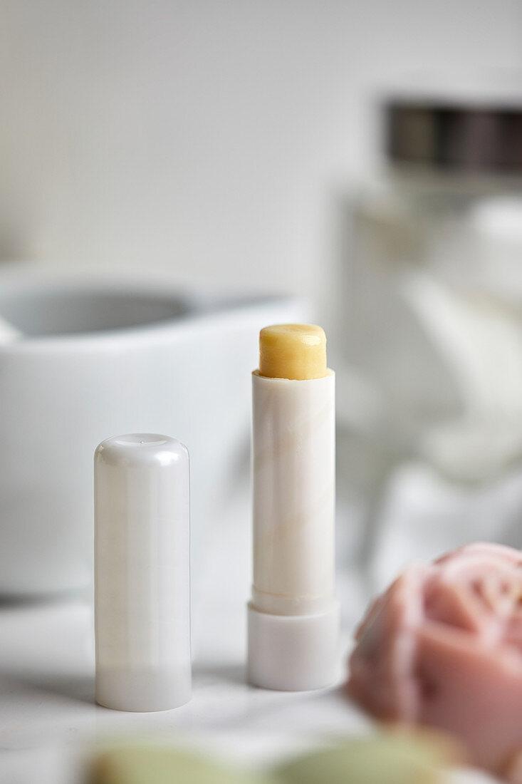 Natural handmade lip balm