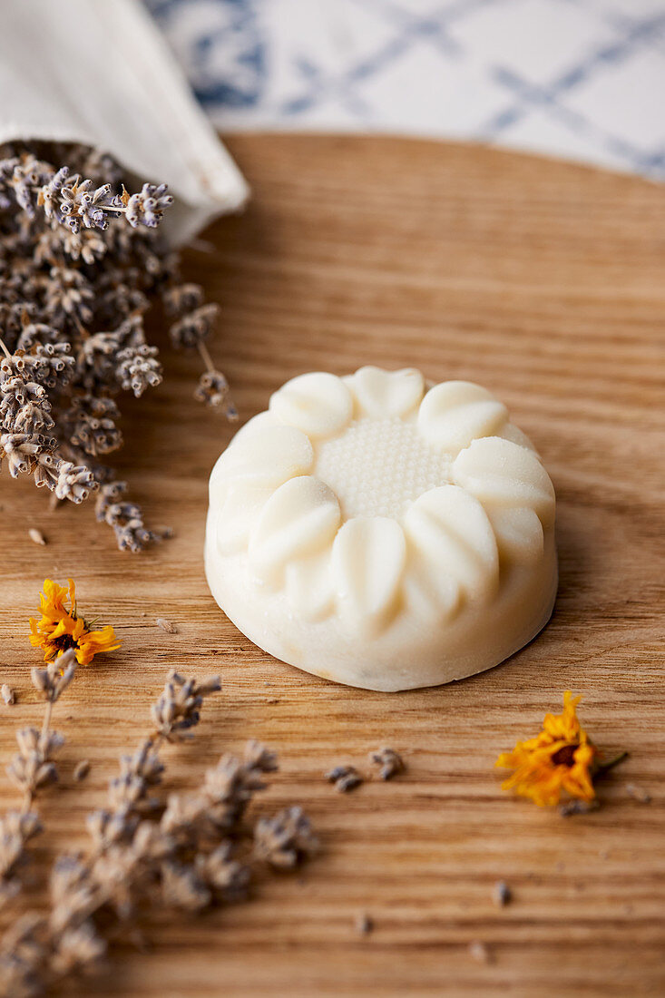 Natural handmade soap made with lavander oil