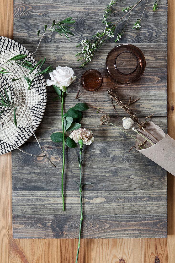White flower for autumn bouquet