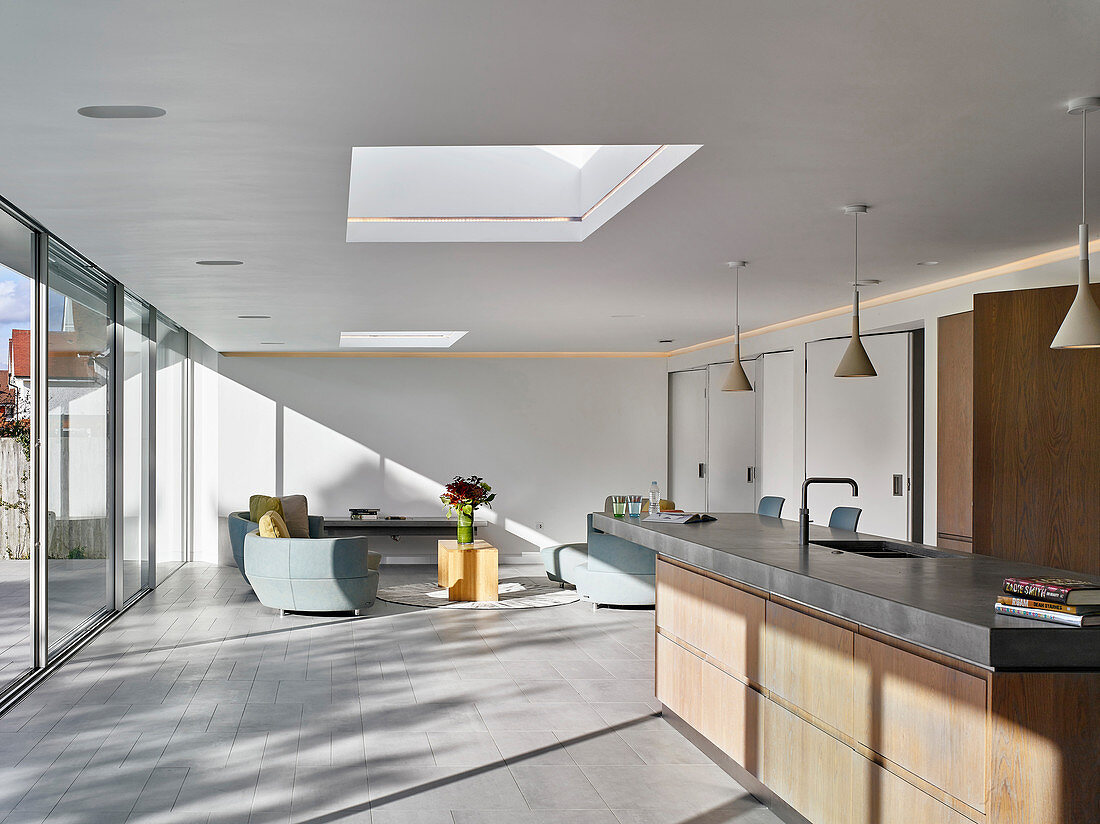 Open Plan Modern Interior Flooded With Buy Image 13261932 Living4media