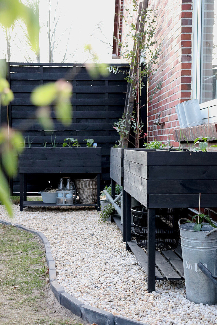 Raised Bed Against Outside Wall Of House Buy Image 13276736 Living4media