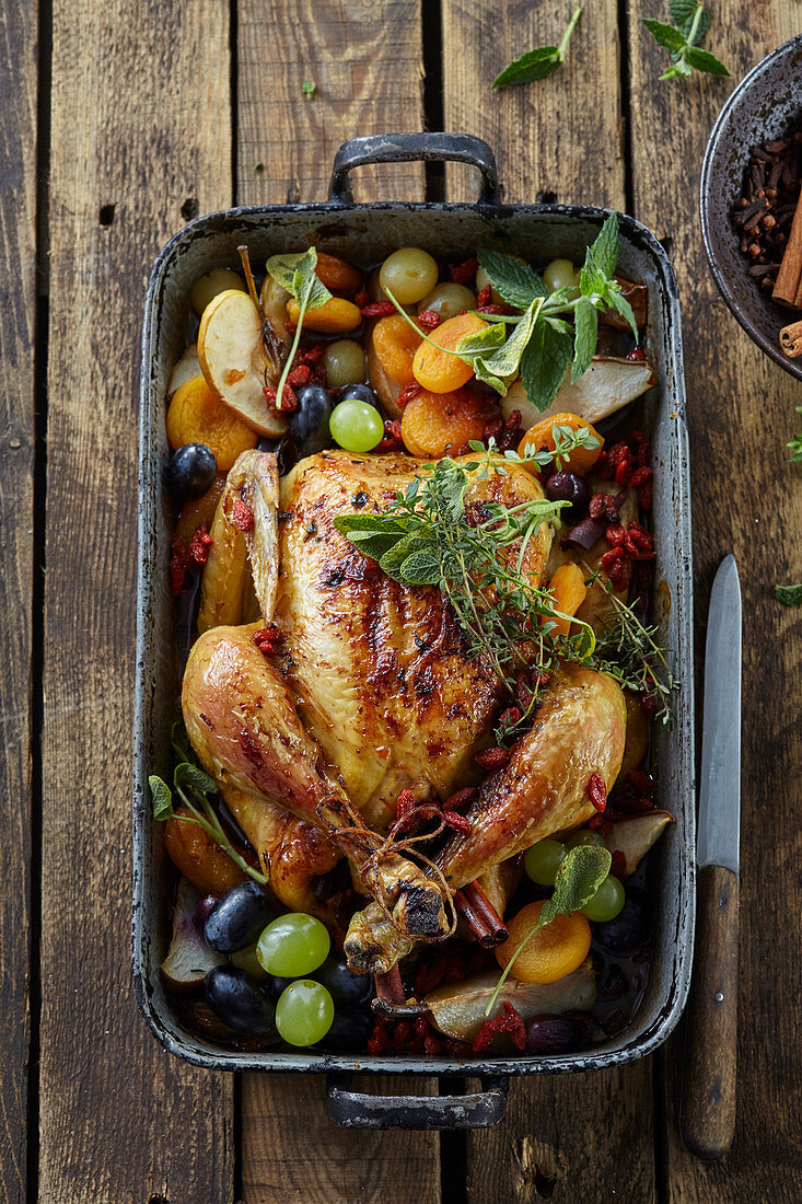 Autumn roasted chicken