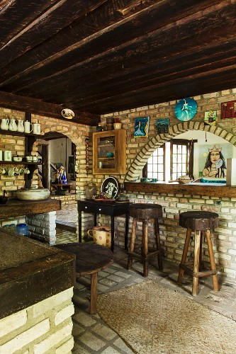 Kitchen In Brazilian Cult House With