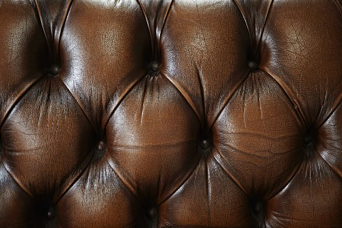 Quilted leather upholstery