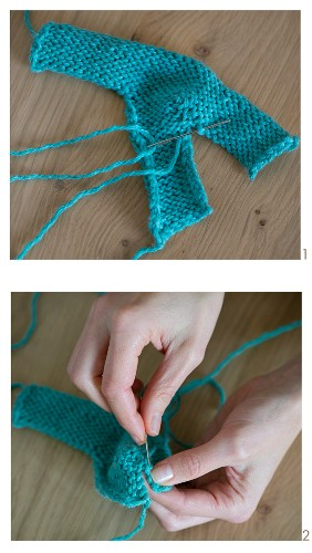 Knitting with a crochet needle: knooked baby booties