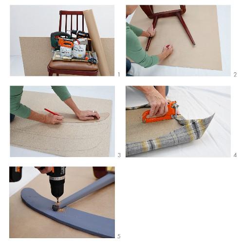 Schaukelstuhl aus altem Holzstuhl herstellen