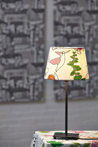 Hand-made table lamp lampshade