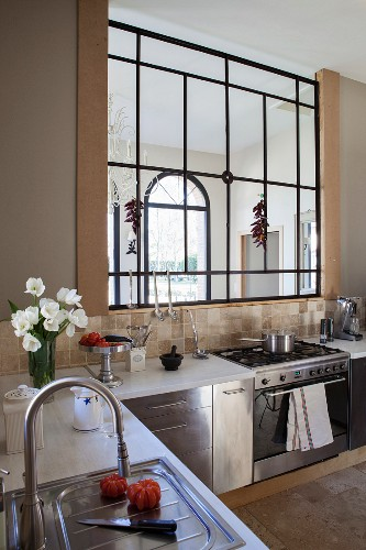 L Shaped Kitchen Counter With Stainless Buy Image 11451424 Living4media