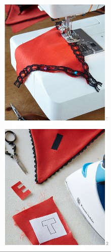 Instructions for sewing Halloween bunting