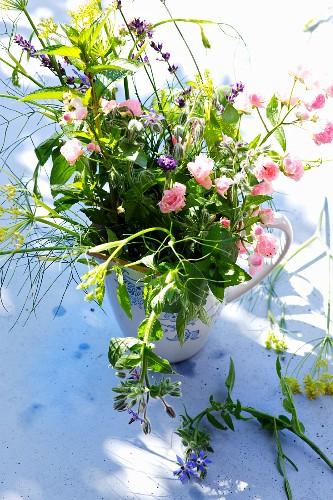 An aromatic bouquet of garden herbs