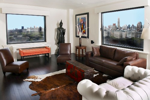 New York Apartment Living Room with City Views