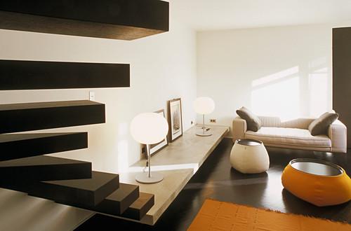 Lounge in japanischer Stil eingerichtet