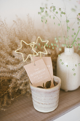 Wedding decorations printed with messages