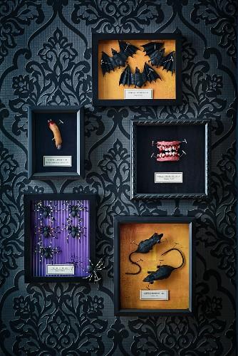 Halloween arrangement of accessories