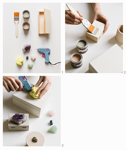 Instructions for making decorated chipwood boxes