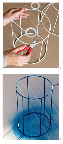 Instructions for making a plant stand from a lampshade