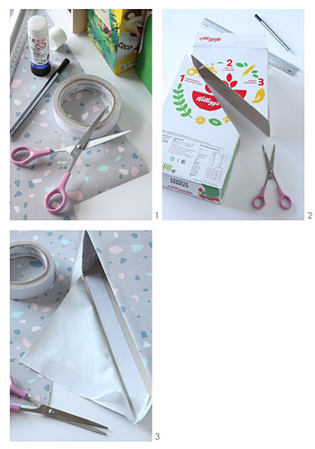 Instructions for making DIY box file in pastel shades