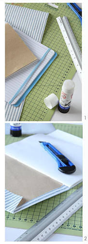 Backing a notebook with paper