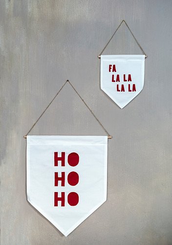 Hand-crafted Christmas wall pennants