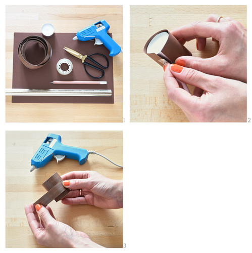 Instructions for making tealight holders from edging strip