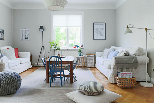Bright Scandinavian-style living room
