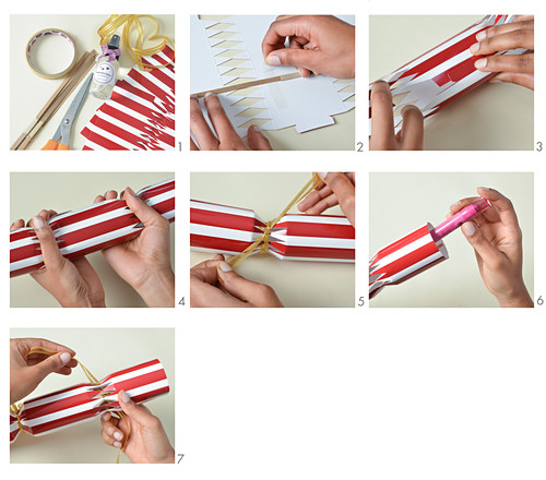 Instructions for making crackers with fillers