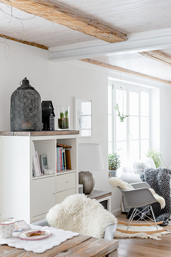 Bright living room in country-house style