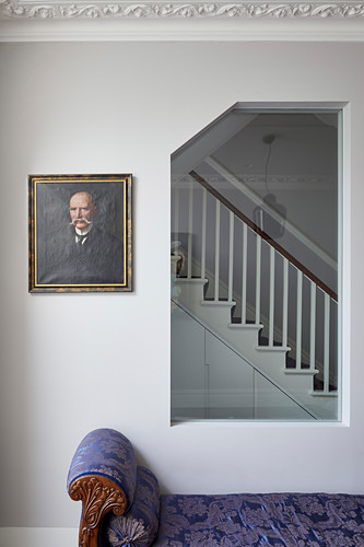 Interior window with view of staircase