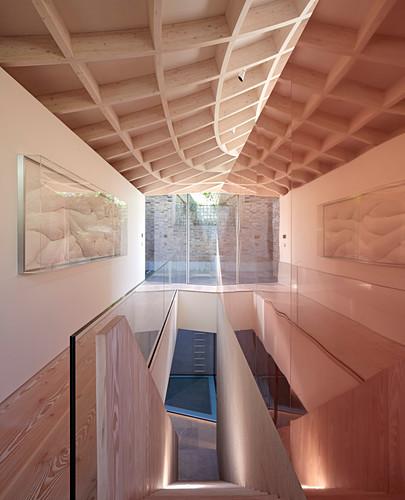 Stairwell in modern extension