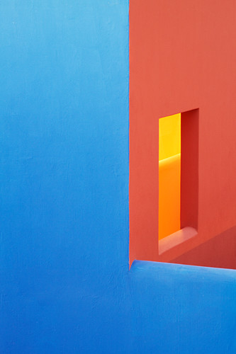 Blue and orange walls