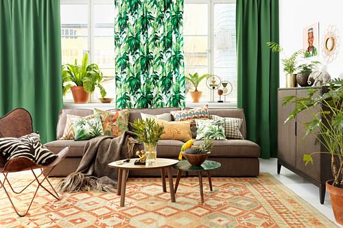 Urban Jungle In Living Room Buy Image 12672524 Living4media