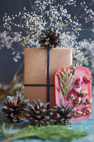 Handmade gift of scented wax