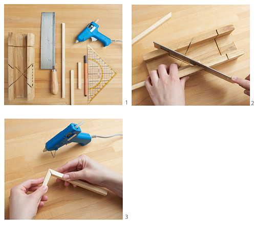 Instructions for making small wooden hut