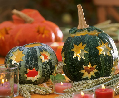 Hollowed-out ornamental gourds