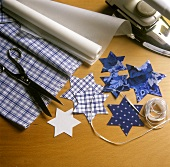 Stars Cut Out of Assorted Material