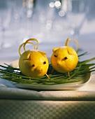 Lemon pig as table decoration
