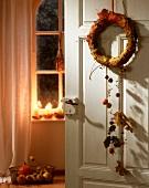 Autumnal door wreath