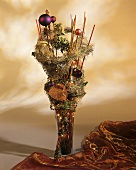 Christmassy arrangement in a vase